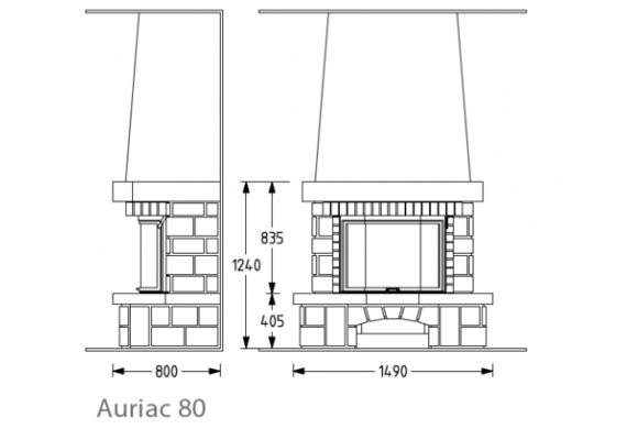 Камин Supra Auriac 80