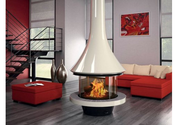 Камин Bordelet Eva 992 центральный со стеклом